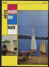 modellbau heute 12/78 Flugboot Be-6 Leichtgut Ladegeschirr Fischerboot Helgoland