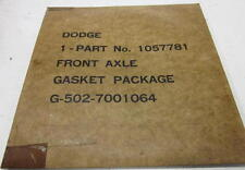 WWII Military G502 3/4 Ton Dodge WC Truck Front Axle Gasket Package NOS