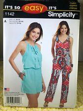 Simplicity Pattern 1142 Size XS-XL Misses Jumpsuit Two Lengths NEW UNCUT