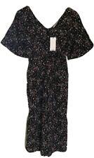 Mango One Piece Floral Jumpsuit, Black/Multi, Small UK 8, BNWT