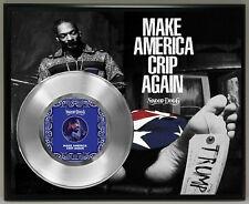 Snoop Dogg Poster Art Silver Metalized Vinyl Record Memorabilia Plaque 3