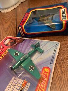 Matchbox Skybusters Spitfire & Stuka Lot New