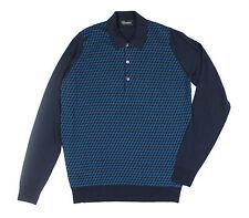 John Smedley Rectangle Jacquard Front Wool Shirt. Size: XL - RRP: £165