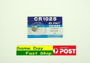 One piece of New CR1025 3 Volt Lithium Button Cell Battery