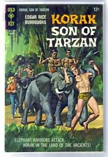 KORAK #19 Elephant Warriors Attack! Gold Key Comic Book ~ FN