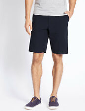 """NEW MARKS SPENCER M&S MENS BIG & TALL PURE COTTON NAVY STRIPED SHORTS W50"""""""
