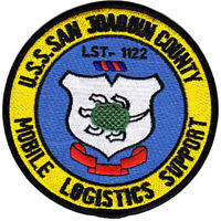 USS Joaquin County LST 1122 Tank Landing Ship Patch