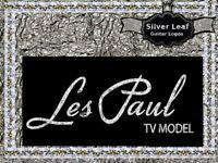 Gibson Les Paul TV Model Guitar Headstock Decal Restoration Waterslide Logo 67s