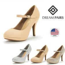 DREAM PAIRS Women's Pump Shoes Ankle Strap Low Heel Stilettos Dress Shoes