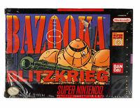 Bazooka Blitzkrieg Super Nintendo SNES H-Seam Seal (damaged) New Sealed See Desc