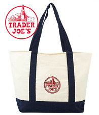 Trader Joes Reusable Fashion Tote Bag From Heavy-Duty Cotton Canvas Shoulder Bag
