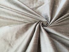 "Silver 100% dupioni silk fabric yardage By the Yard 55"" wide Quilt Sew Drapery"