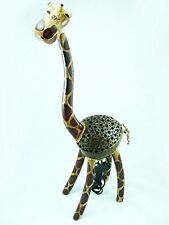 Handmade Wooden Crafts Coconut Shell Lamp - Giraffe Lamp with Knock Down
