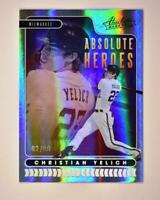 2020 Absolute Heroes Spectrum Silver #AH7 Christian Yelich /99 Milwaukee Brewers