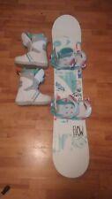 -*CoMPLeTe* Ladies Flow Micron Velvet 130cm Snowboard Burton Boots Head Bindings