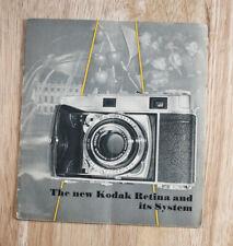 Kodak Retina Iiic, Iic And Ib (Small) Sales Brochure/cks/201222