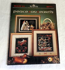 COUNTED CROSS STITCH pattern book PEACE ON EARTH EUC Stoney Creek Collection