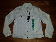 NWT Women's Denim White 2016 PARASUCO Jacket Size XL X-LARGE