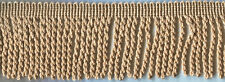 "3"" Champagne Bullion Fringe Fabric Trim 6 Yards"