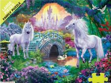 Jigsaw Puzzle Fantasy Unicorns in Fairyland 500 large pieces NEW Made in USA