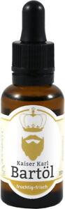 Kaiser Karl Beard Oil Fruchtig-Frisch Natural Care Jojoba- & Almond Oil Vegan