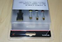 PS3 S Video TV Cable Lead  Genuine Official Sony Playstation 3 PS1 PS 2 New