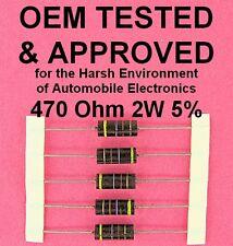 470 Ohm 2 Watt 5% Wirewound Power Resistor OEM Approved 2W Axial Lead WW, 5ea