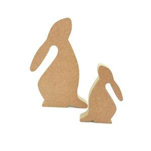 Freestanding Cute Bunny Hare Rabbit shape MDF wooden diy craft blank Easter deco