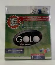 Golo Dice Game Travel Edition With Travel Bag 2006 Golf In A Cup New Sealed