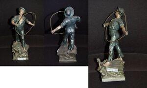 Sculpture Des Bildhauers Arthur Waagen Approx. 1870 Height 23cm, Sailor With Tau