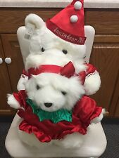 Dayton Hudson 1993 Mr And Miss Santa Bears With Bag! Must See Buy Today!
