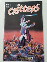 CRITTERS #4 (1986) FANTAGRAPHICS BOOKS COMICS FREDDY MILTON! GALLACCI!+
