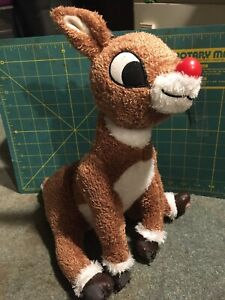 Hallmark Rudolph Reindeer Singing Light Up Nose Plush Stuffed Animal