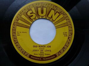 JERRY LEE LEWIS 45 'OLD BLACK JOE' USA SUN KILLER 1960 MEMPHIS ROCKABILLY VG++
