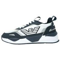 Emporio Armani Eagle Logo Mesh Navy Sneakers