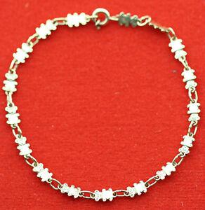 Armband Armkettchen 925 Silber Bärchen wohl 70er Jahre 18cm