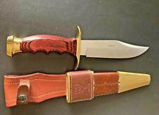 "Muela Bowie Molibendo Vanadio 11"" Hunting Knife With Original Leather Sheath"