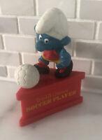 Smurf A Gram World's Greatest Soccer Player Vintage Figure Stand Smurfs Figurine
