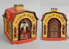 19thC Antique J&E Stevens Co Painted Cast Iron Mechanical Magic Bank, NR