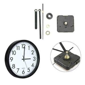 Silent DIY Clock Quartz Movement Mechanism Hands Replacement Part Black .  2020