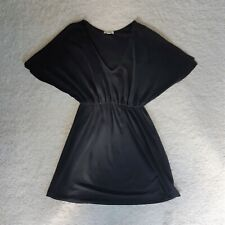 Silence + Noise black flow empire waist dress