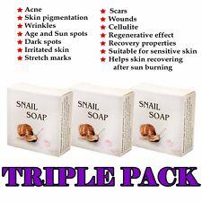 SNAIL SOAP Anti Acne, Pigmentation, Wrinkles, Stretch Marks, Scar Removal 3x30g