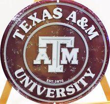 TEXAS A & M ROUND METAL SIGN., COLLEGE REGULAR SEASON
