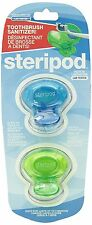 Steripod Clip-on Toothbrush Sanitizer - ( 1 package w/ 2 covers )