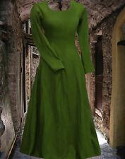 Medieval Gown Renaissance SCA Garb Cotehardie COLOR OPTIONS Linen 6 Gore 1pc lxl