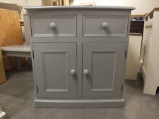RUTLAND ALL PAINTED 2 DOOR SIDEBOARD HAND MADE SOLID PINE BESPOKE COLOUR SIZES
