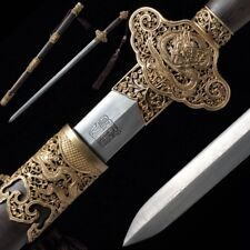 Hand Forged pattern steel blade sky dragon Sword Pure copper Fittings #5006