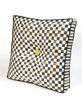 MACKENZIE CHILDS CORTLY CHECK LARGE SQUARE CUSHION BRAND NEW -RETIRED ITEM