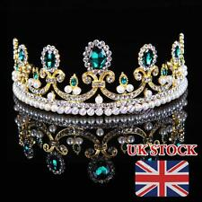 Royal Hunter Green Tiara Bridal Wedding Party Pageant Crown Crystal Hair Jewelry