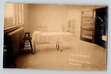 Sioux City Iowa St Johns Hospital Interior Operating Room Postcard RPPC c1910